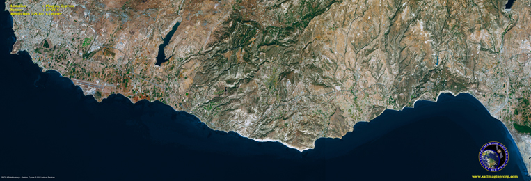SPOT-6 Satellite Image of Paphos, Cyprus