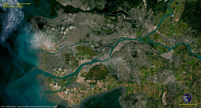 SPOT-6 Satellite Image of Vancouver, Canada