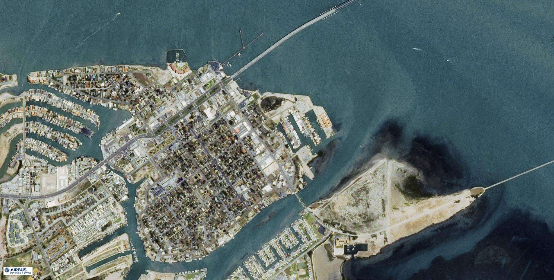 SPOT-7 Satellite Image Port Isabel Texas   Satellite ...