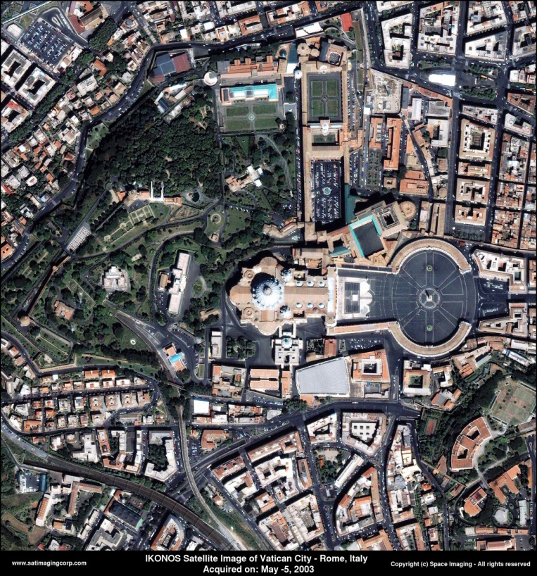 IKONOS Satellite Image of Vatican City - Rome, Italy