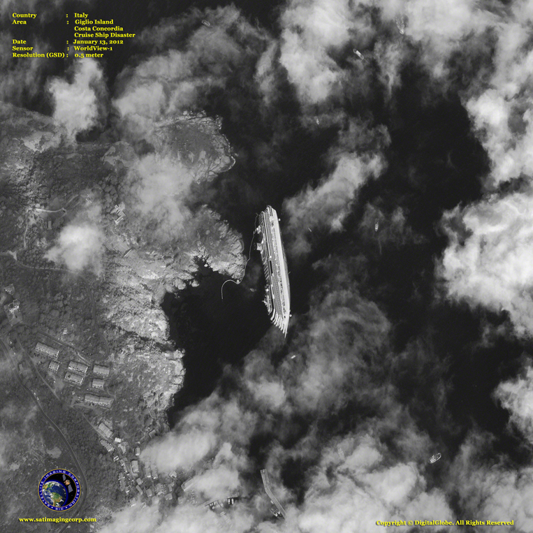 Satellite Image - Costa Concordia