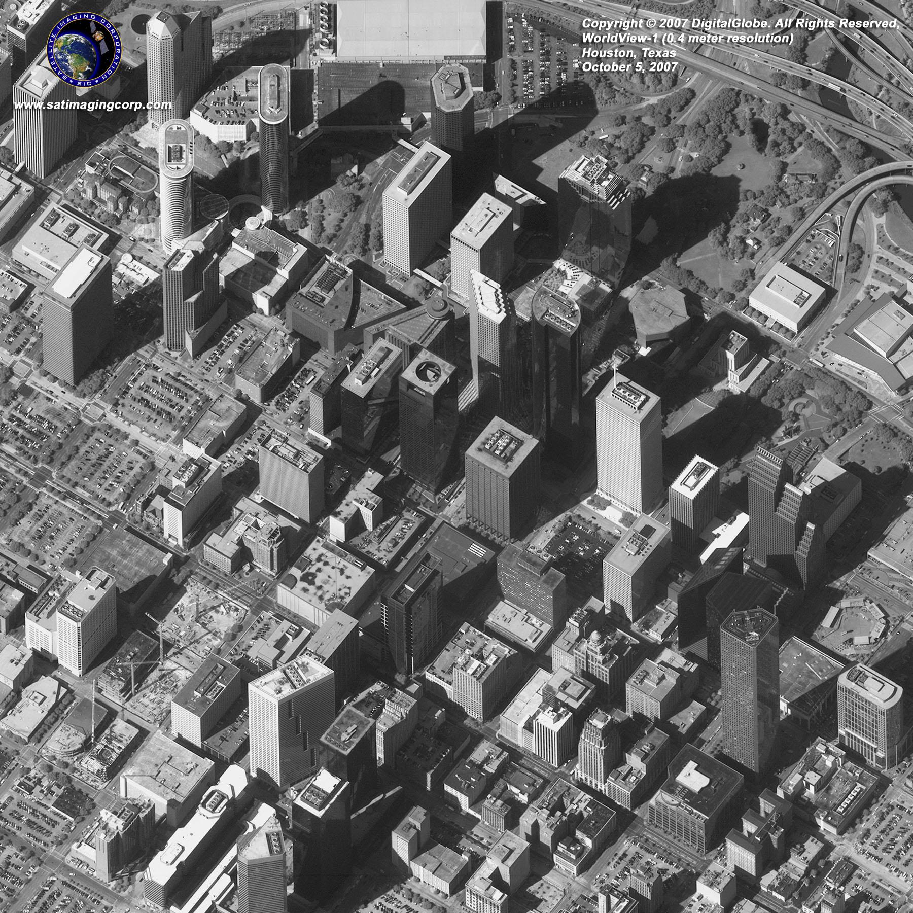 Houston Texas USA WorldView 1 Satellite Sensor