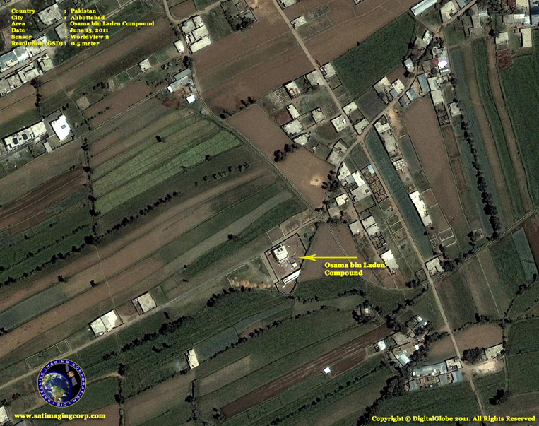 Satellite Images - Abbottabad, Pakistan - Bin Laden Compound