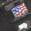 WorldView-2 Satellite Image of an American Flag