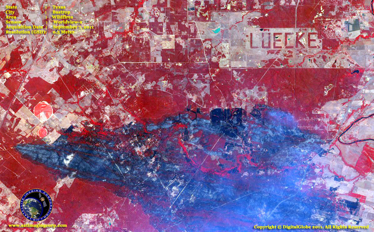 Satellite Images - Bastrop, Texas - Wildfires