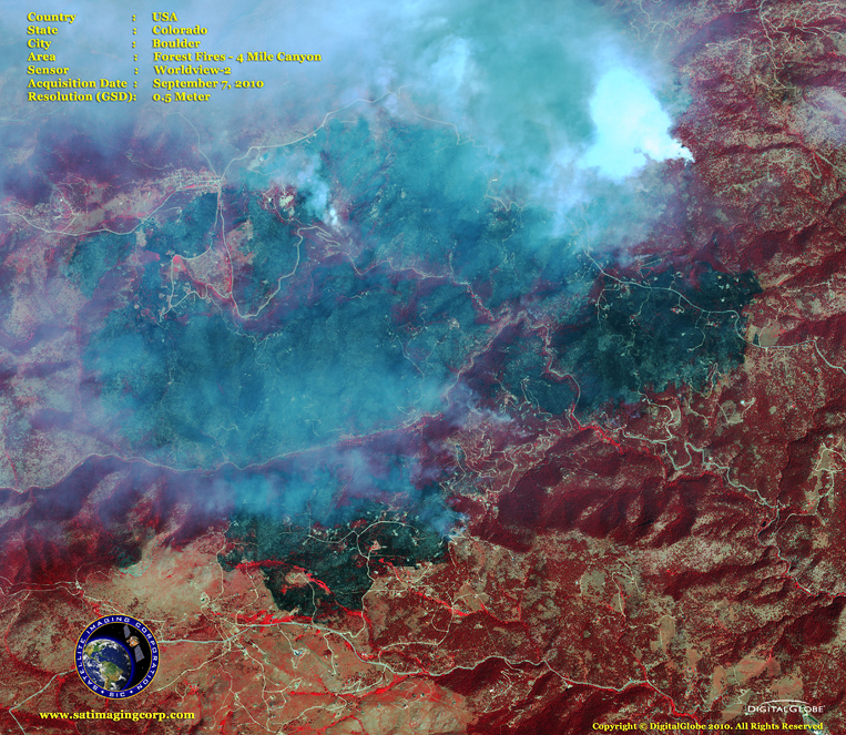 Satellite Images - Boulder, Colorado - Fires