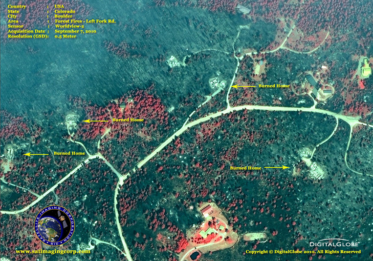 Satellite Images - Boulder, Colorado - Forest Fires