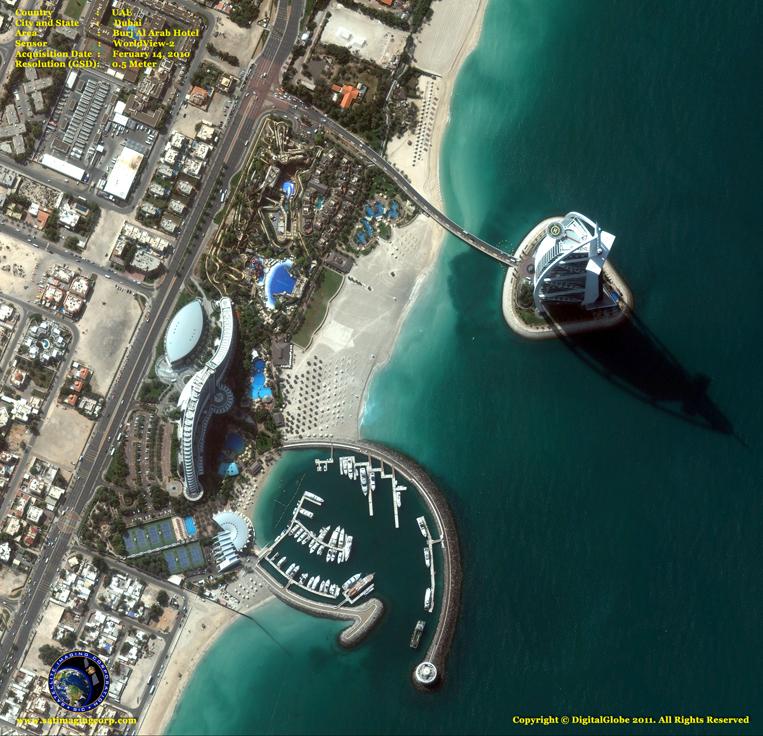 Satellite Images - Burj Al Arab - Luxury Hotel