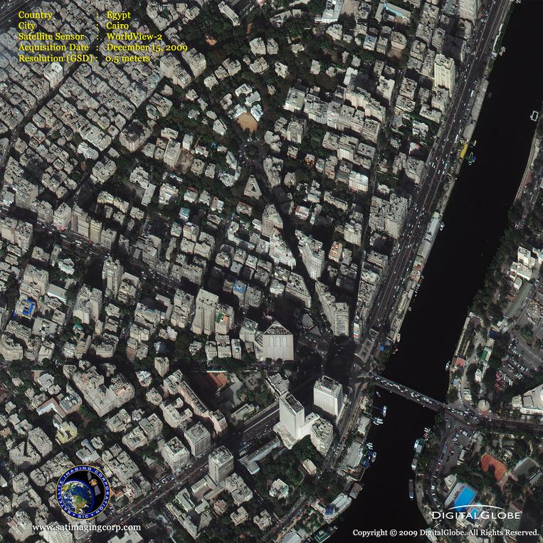Satellite Images - Cairo, Egypt