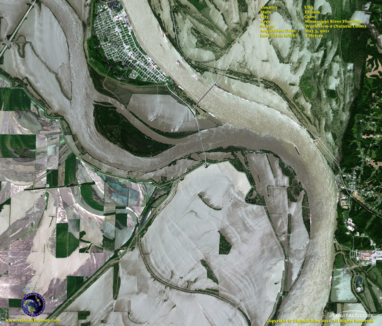 Satellite Images - Cairo - Mississippi River Flooding