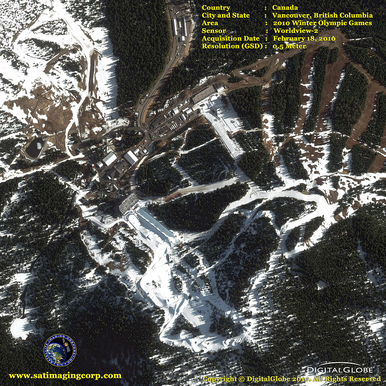 WorldView-2 Satellite Image of the 2010 Winter Olympic Games