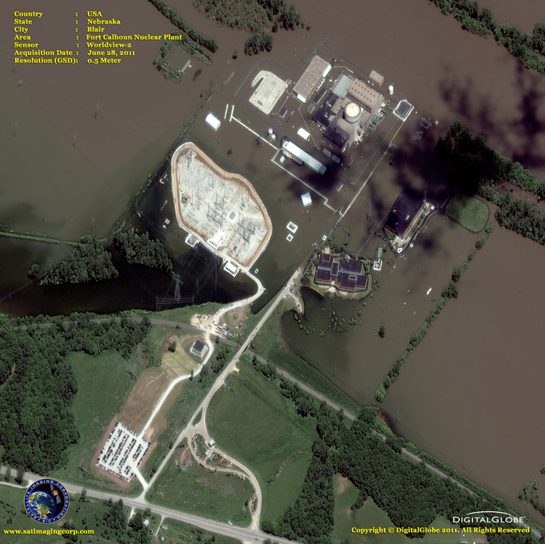 Satellite Images - Blair, Nebraska - Fort Calhoun Nuclear Plant