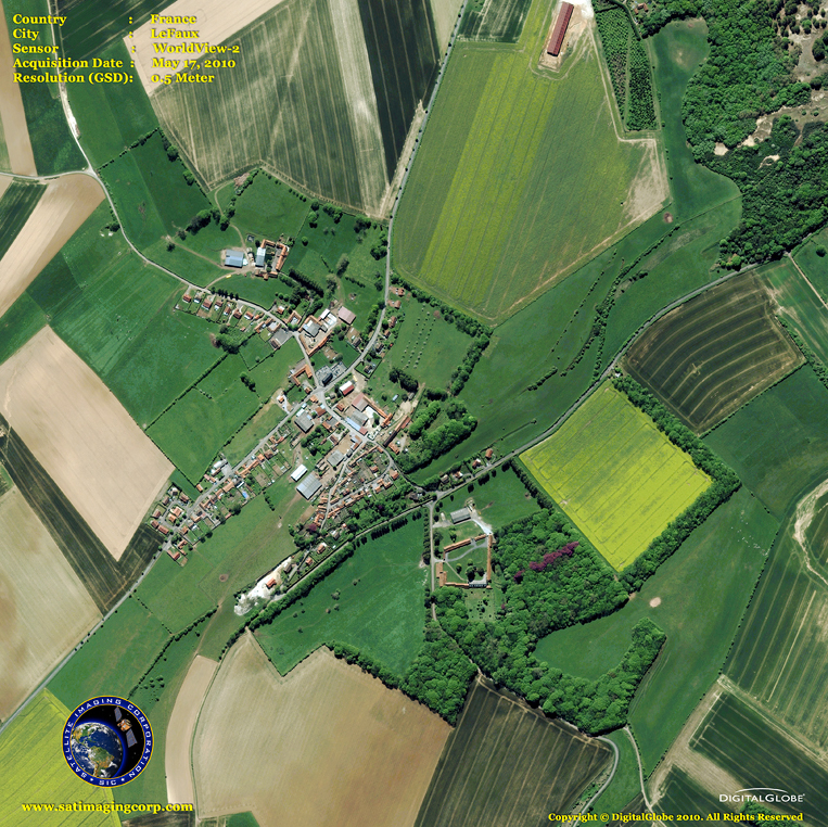 Satellite Images - LeFaux, France