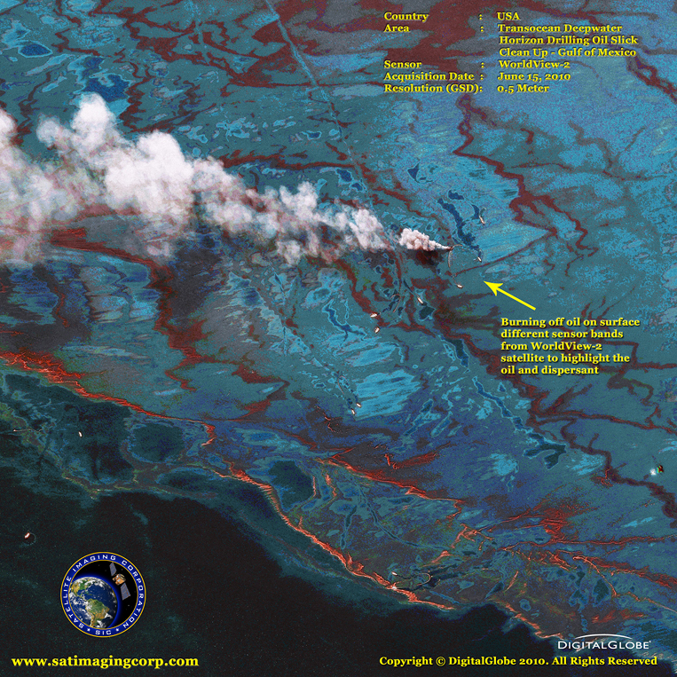 Satellite Photo of the Gulf Oil Spill
