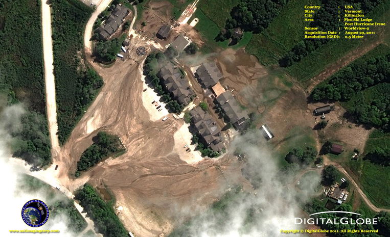 Satellite Images - Hurricane Irene - Damage in Vermont