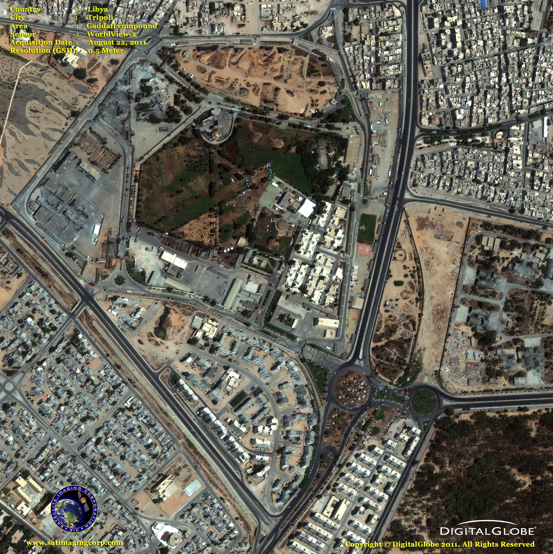 worldview2 satellite image gaddafis compound satellite