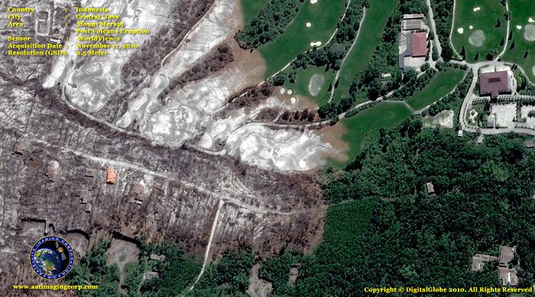 WorldView-2 Satellite Image of Mount Merapi