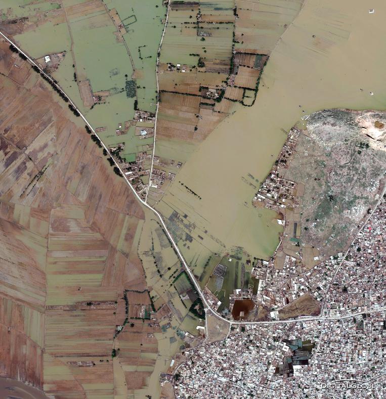 Satellite Images - Nowshera, Pakistan Flood