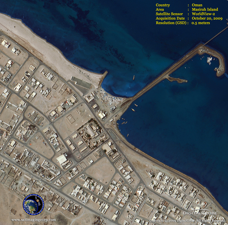 Satellite Images - Masirah Island, Oman