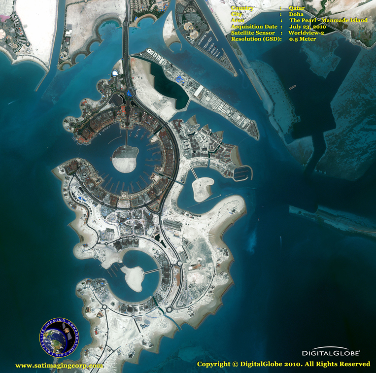 Satellite Image of Pearl-Qatar