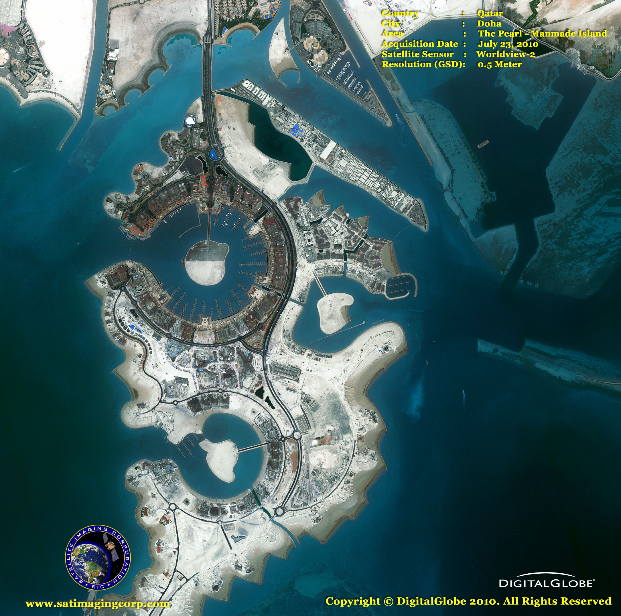 map of middle east the pearl   qatar satellite imaging corp