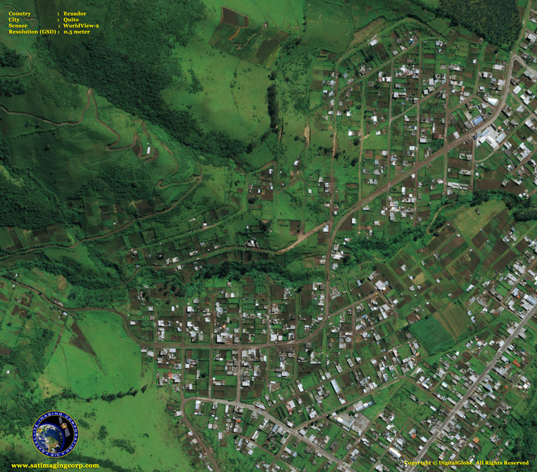 Satellite Images - Quito, Ecuador