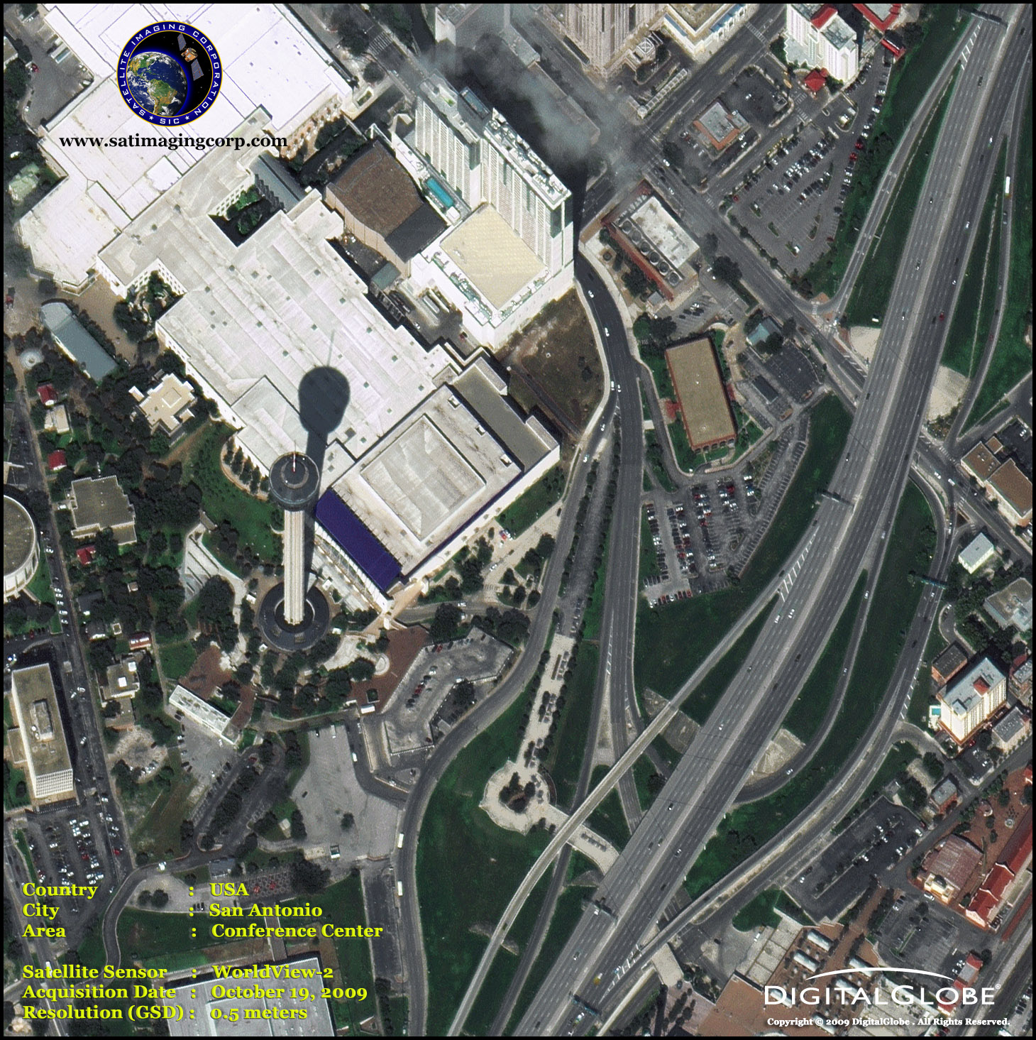Worldview 2 Satellite Image Of San Antonio Texas