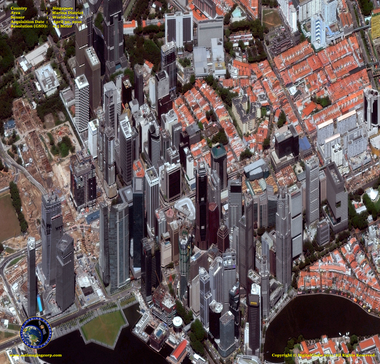 Satellite Images - Singapore - Marina District