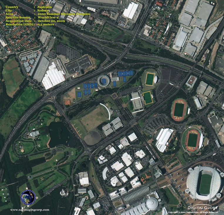 Satellite Image of Dallas, Texas