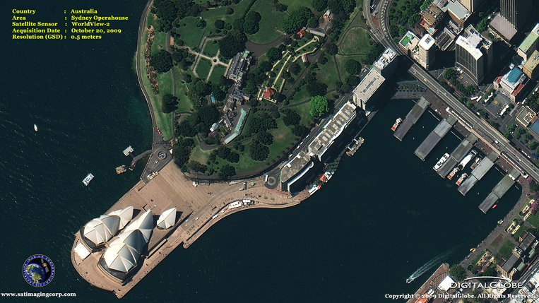 Satellite Photo of the Sydney Operahouse