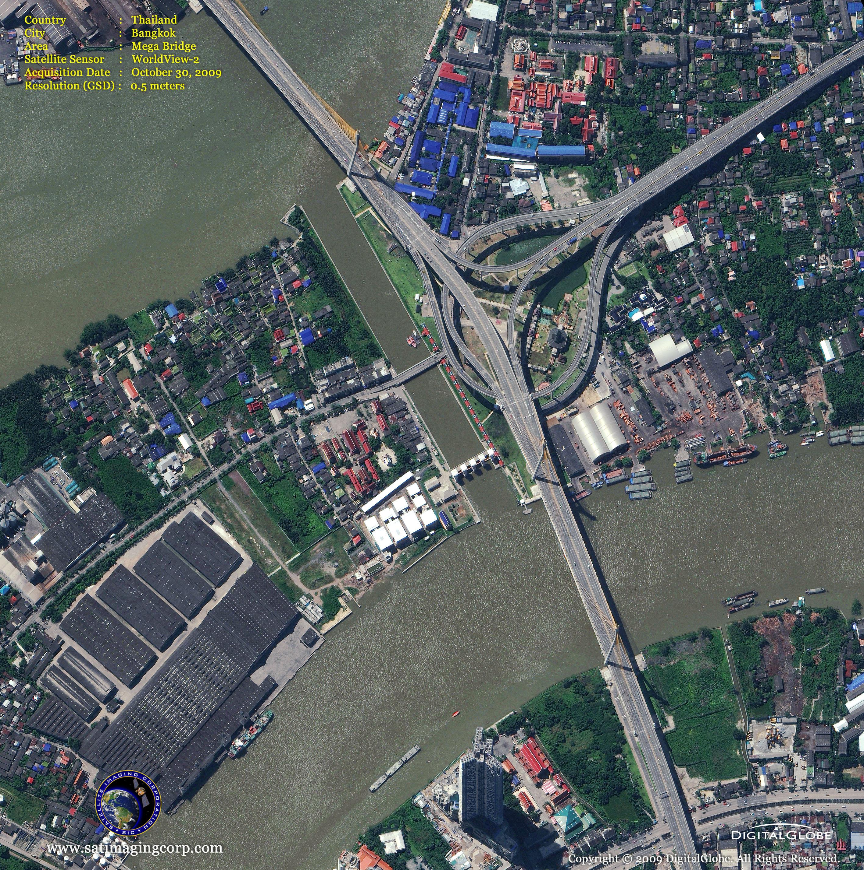 Worldview 2 Satellite Image Of Bangkok Thailand