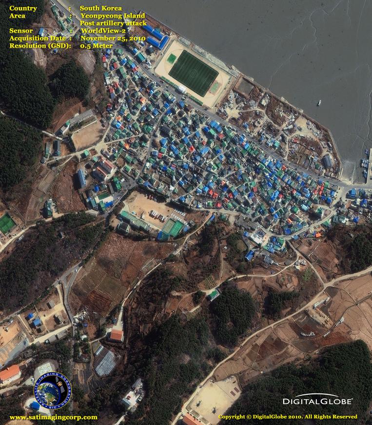 Satellite Imagery - Yeonpyeong Island - South Korea