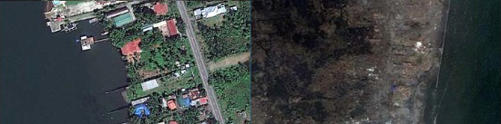 Before and After Typhoon Haiyan